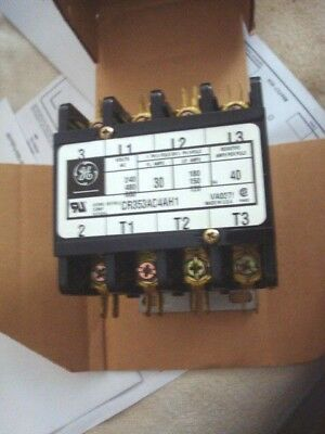 GE 30 Amp Contactor Relay CR353AC4AH1  4 Pole Made in USA