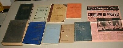 10 Antique 1920s-1950s Textbook Of Cosmetology & Beauty Hairdresser,Waves books