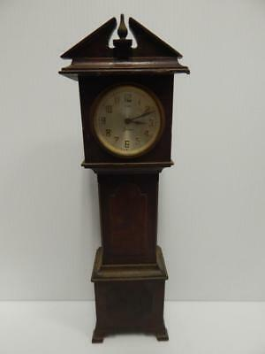 Rare Antique Sessions Miniature Grandfather Clock Saleman Sample 8 Day