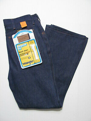 vintage 70s NEW DEADSTOCK WRANGLER BOOTCUT DENIM JEANS USA MADE nos nwt 29x30