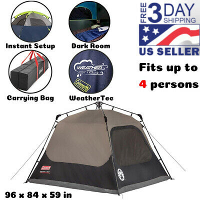 4 Person Instant Family Tent Waterproof Outdoor Camping Hiking Sleepover Home
