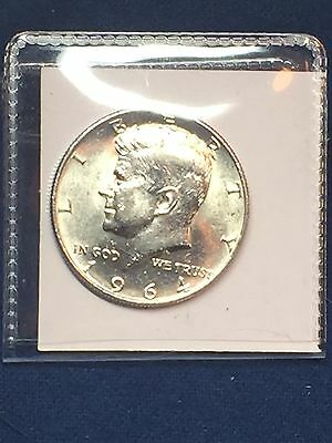 1964 50C Kennedy Half Dollar 90% SILVER - CIRCULATED- NICE COIN  Bundled Ship