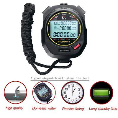 Digital Handheld Sports Stopwatch Chronograph Training Counter Timer Stop Watch
