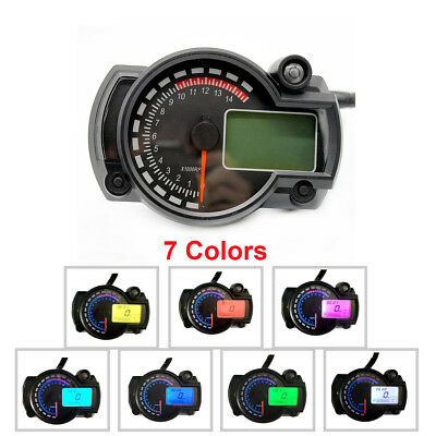 7 Colors Adjust Motorcycle LCD Digital Speedometer Odometer Backlight Odometer