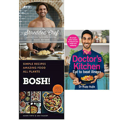 The Shredded Chef, The Doctor's Kitchen, BOSH 3 Books Collection Set NEW