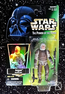 Action- & Spielfiguren Star Wars Power Of The Force Todesstern Gunner Grün Karte Kenner Figur