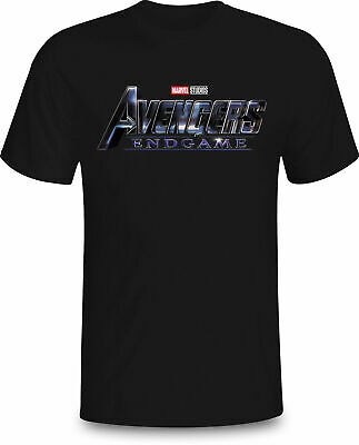 Avengers End Game Logo Symbol New Marvel Movie 2019 Tee T-Shirt Black Size M-3Xl