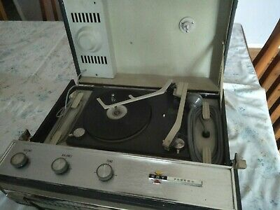 HMV Bahama Portable Record Player Vintage Retro