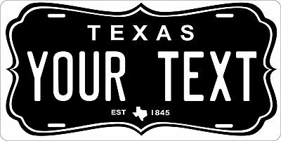 Texas Shape License Plate Personalized Custom Car Bike Motorcycle Moped Tag