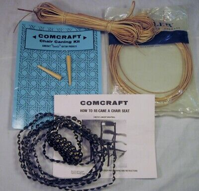 Comcraft & Rockler Silla Caning Suministros Parcial Kit W/ Madera y Metal Tira