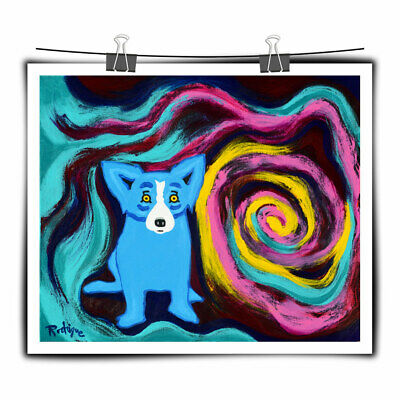 Blue Dog cartoon art painting HD print canvas wall art picture home decor 16X20