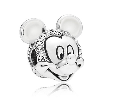 Fashion 925 Silver Mickey Charm European Spacer Beads Fit Necklace Bracelet  !!!
