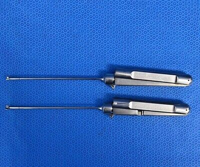 Set of Acufex 010900 010901 3.4mm Cigar Handle 90° Rotary Basket Punch Forceps