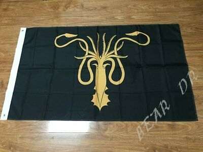 3x5ft Game of Thrones House Greyjoy Banner Flag Events Decorative Flag 90x150cm