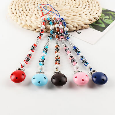 Infant Baby Beaded Pacifier Chain Holder Clip Nipple Soothe Dummy Chain Gift