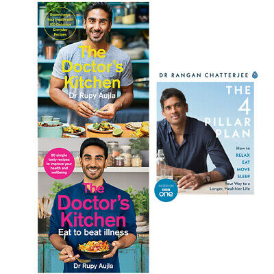 The Doctors Kitchen Eat To Beat Illnes,The 4 Pillar Plan 3 Books Collection Set