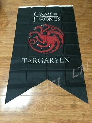 GAME OF THRONES Targaryen House cloth tapestry Posters Great New Banner Flag 3ft