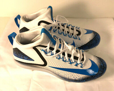brand new 2add9 c04f0 Nike Men s Zoom Trout 3 Metal Baseball Cleats White Blue (856503-144)