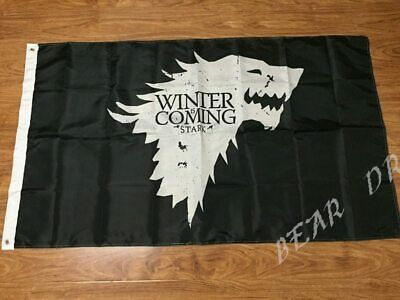 Game Of Thrones Winter Is Coming Stark Sigil Logo Licensed Large New Banner Flag