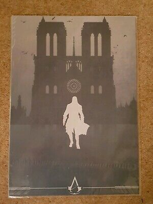 Rare Assassins Creed Unity Exclusive Limited Numbered Notre Dame Lithograph