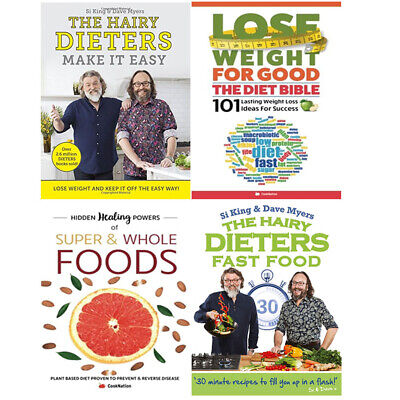 The Hairy Dieters Fast Food, Lose Weight For Good 4 Books Collection Set NEW