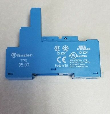 Finder 95.03 SPA Screw Terminal Relay Socket 3.5mm Pinning - Blue  NEW