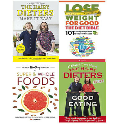 The Hairy Dieters Good Eating, Super & Whole Foods 4 Books Collection Set NEW
