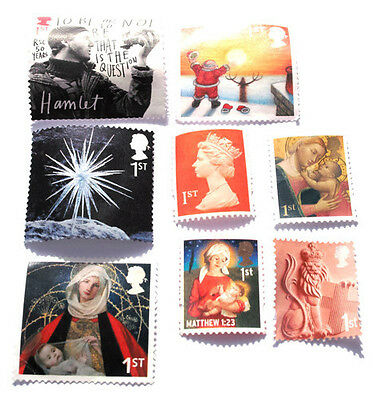 100 Unfranked First Class Mixed Stamps Off Paper. Face Value £67