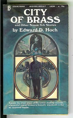 CITY OF BRASS by Ed Hoch, rare US Leisure crime occult Simon Ark pulp vintage pb