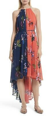 041b247b9d3c TED BAKER SIZE 3 Hanie Tropical Oasis Maxi High/low Dress - £86.00 ...
