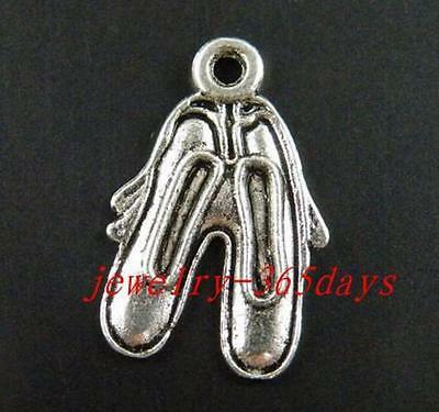 30//60pcs Tibetan Silver Nice Cowboy Boot Charms 25x19mm 10746