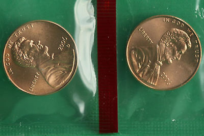 2006 P and D Lincoln Cent 2-Coin from US Mint Set UNC Cello One Cent Penny Set