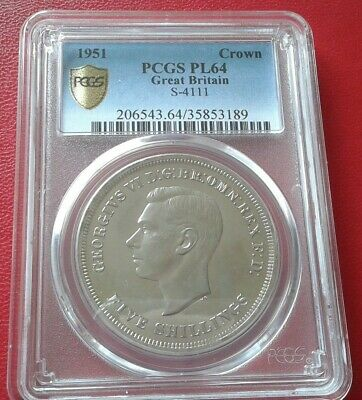 GB 1951 George VI  Crown  PCGS PL64