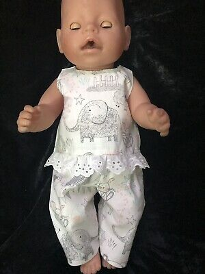 Dolls clothes made to fit Baby Born Doll  - Singlet And Top Set