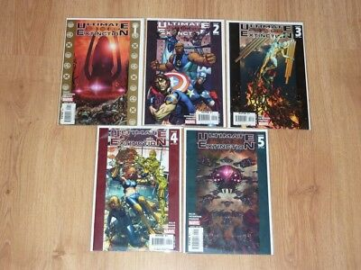 Ultimate Extinction #1 to #5 - Marvel 2006 - VFN to VFN+ - Complete 5 Part Set
