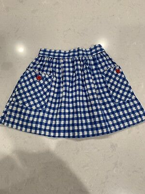 Hartstrings Skirt Gingham Plaid Blue White Vintage Baby Clothing