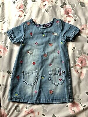 Girls' Clothing (0-24 Months) Clothes, Shoes & Accessories Next Girls Denim Dress 12-18 Months Excellent Condition