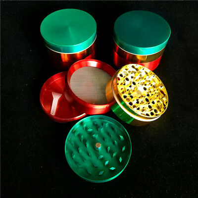 60mm Red Yellow Green Large Herb Grinder 3Layer Big Cali Crusher Grinder On Sale