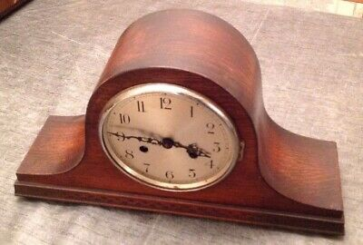 Antique Mantle Clock [Working] + Bezel Nelson Hat Style , Two Train 43x23x13cm
