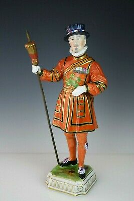 """"""" Yeoman of the Guards"""" DRESDEN Germany Porcelain Figurine by Carl THIEME 10.5"""""""