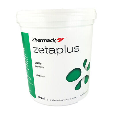 3x Zetaplus Putty C-Silicone Zhermack Dental Impression Material 900ml Easy Mix