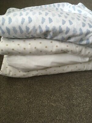 4 Cot Bed Fitted Sheets Unisex