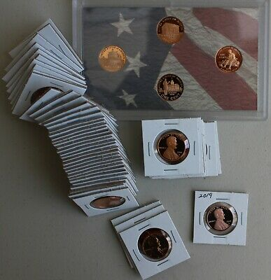 1968 through 2019 Proof Lincoln One Cent 55 Coin Penny Lot 1c Collection