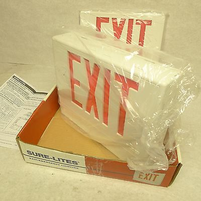 Box of FOUR Cooper Lighting Sure-Lite LED Exit Sign LPXH70RWH (w/Battery Backup)