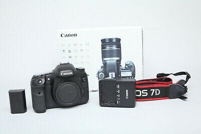 Boxed Canon EOS 7D 18MP DSLR Camera (Body Only) in Very Good Condition 30k Shots