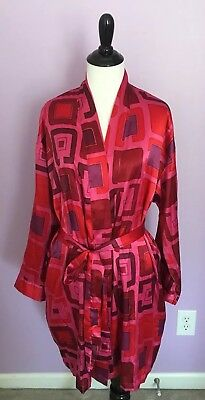 8d90b515d Victoria's Secret Robe One Size Pink Red Purple Polyester Long Sleeve Belted