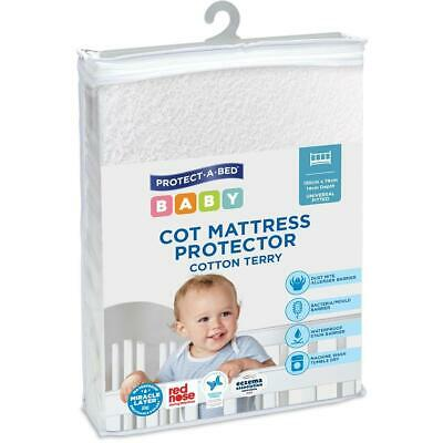 Protect-A-Bed Universal Fitted Baby Cot Mattress Protector Dust Mite Waterproof