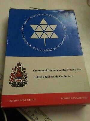Canada Centennial Issue stamps 1867 -1967 stamp box postage post office mail