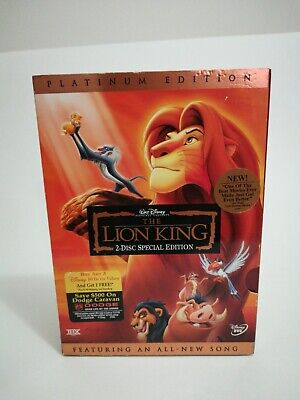 The Lion King (1994) [2-Disc Special / Platinum Edition DVD] WITH SLIP CASE BOX