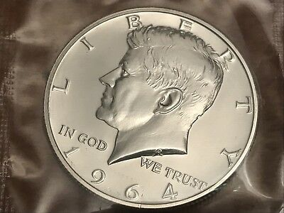 1964 P KENNEDY HALF DOLLAR PROOF GEM  90% Silver in Cello - Free S/H with holder